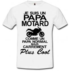 T-shirt je suis un papa motard