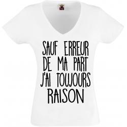 T-shirt  sauf erreur