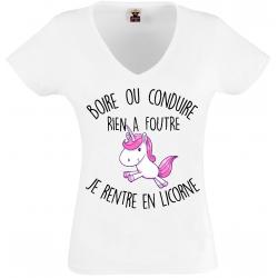 T-shirt  je rentre en licorne