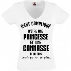 T-shirt princesse et connasse