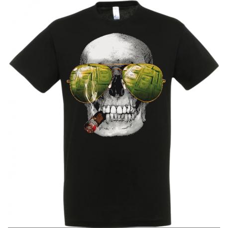 T-shirt skull poker