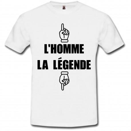 T-shirt l'homme la légende