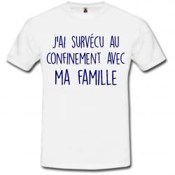 T-shirt J'ai survécu famille