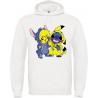 sweat à capuche Pikachu et Stitch